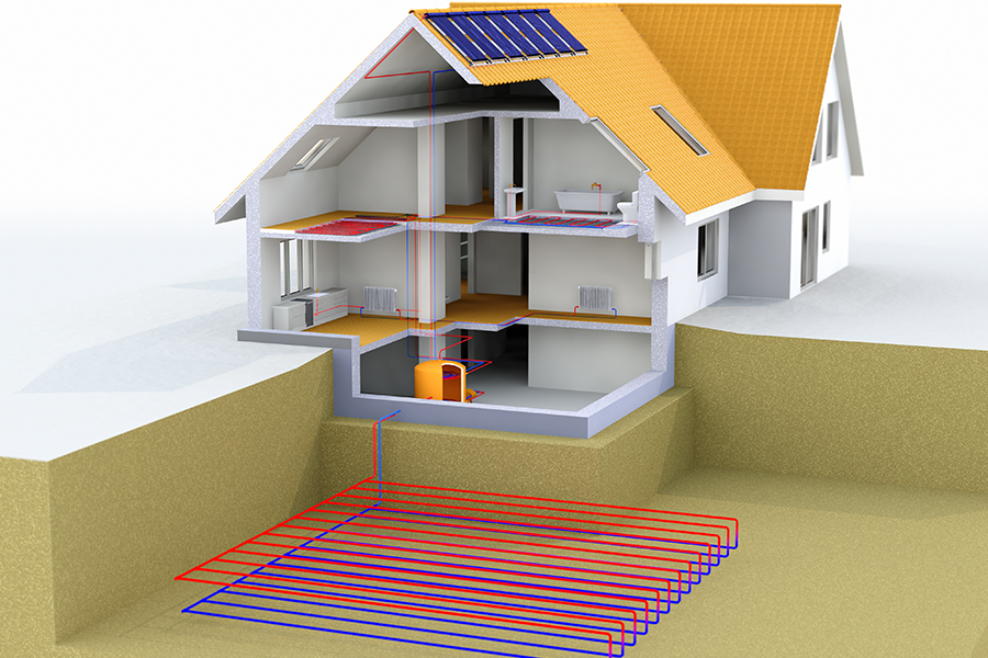 Geothermal Heating and Cooling Horizontal