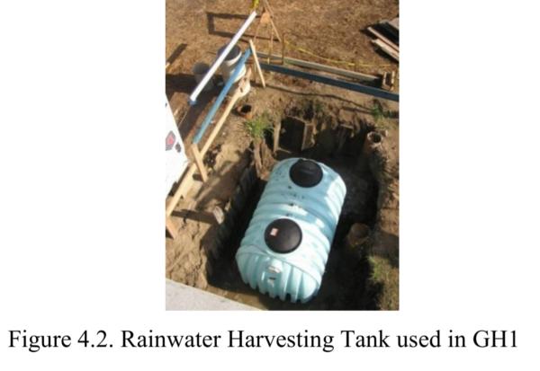Figure 4.2 - Rainwater Harvesting Tank Used In GH1